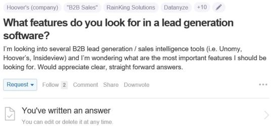 What features do you look for in lead genration software?