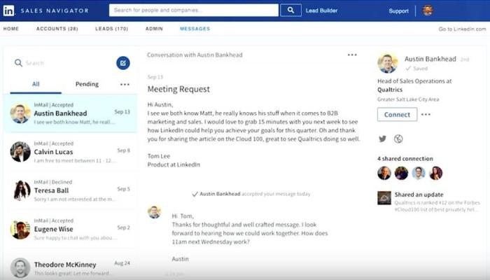 InMail 2.0 Inbox