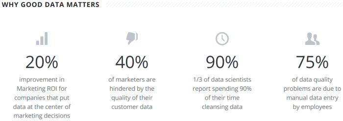 """Why Good Data Matters"" Statistics from Trillium Software"