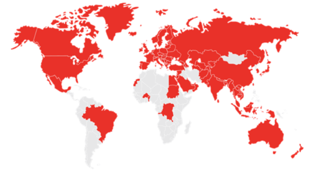 CreditSafe Global Coverage Map