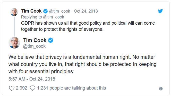 Tim Cook on GDPR